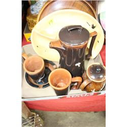 Large Athabasca Pottery Ashtray & Other Pottery pieces