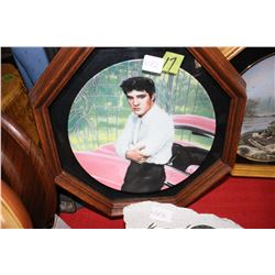 Elvis Prestley Collector Plate in a Frame