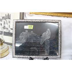 Black & White Framed Barn Picture