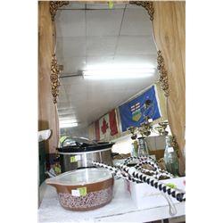 Large Ornately Framed Mirror
