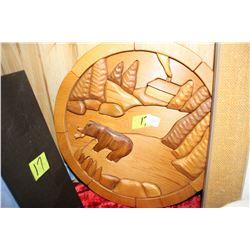 3 Diminsional Wooden Bear Plaque