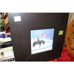 4 Riderless Horses - RCMP Framed Picture - Mayerthorpe, AB