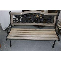 Cast Iron & Wood Yard Bench