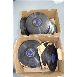 2 Boxes of 78 rpm Vinyl Records