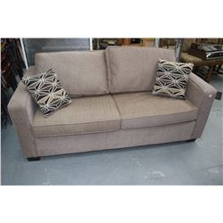 Sofa Bed - Dark Beige - Like New (with Throw Cushions)