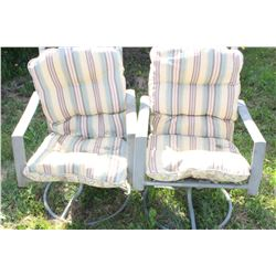 2 Patio Chairs with Cushions