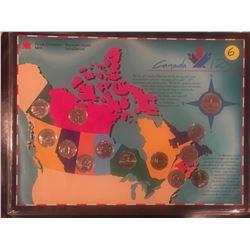 Canada 125 Set, 12 quarters & loonie