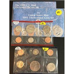 1991 USA Mint UNC Sets (D & P Mint Marks))