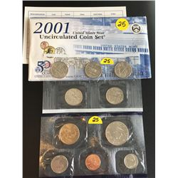 2001 USA Mint UNC Set (P Mint Mark)