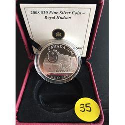 2008 Canada $20 FS Royal Hudson  Fine Silver .999