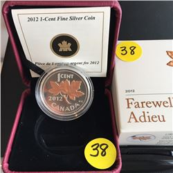 2012 Canada 1¢ FS Farewell/Adieu Ltd. Ed.(selectively gold plated)
