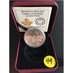 2014 Canada $5 FS Tradition of Hunting:  Canada Goose