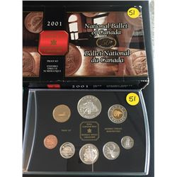 2001 Canada Proof Set, 50 Anniv.  National Ballet of Canada