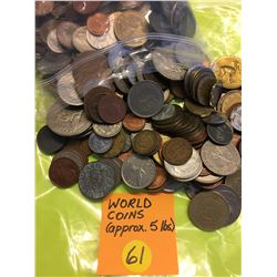 World Coins, approx. 5 pound bag