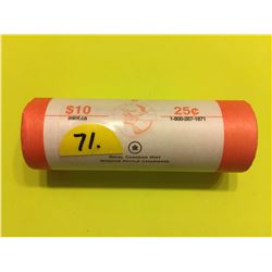 2008 Canada 25¢ roll, Pink Ribbon Cure for Cancer