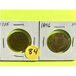 Canada Large Cents 1888, 1896