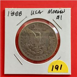 1888 USA Morgan Silver $1