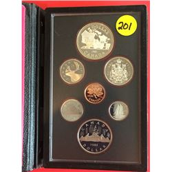1981 Canada Double Dollar Proof Set, Railway