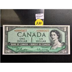 1954 Canada $1 bill  (Replacement) Beattie/Rasminsky