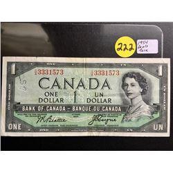 1954 Canada $1 bill (Devil's Face) Beattie/Coyne