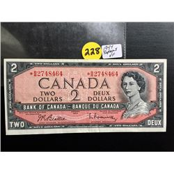 1954 Canada $2 bill (Replacement) Beattie/Rasminsky