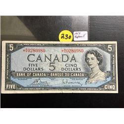 1954 Canada $5 bill (Replacement) Bouey/Rasminsky