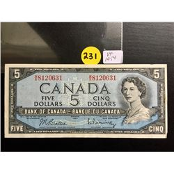 1954 Canada $5 bill Beattie/Rasminsky
