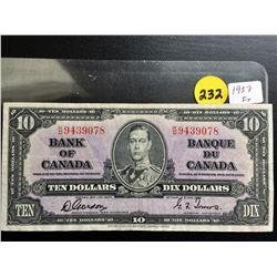 1937 Bank of Canada $10 bill Gordon/Towers