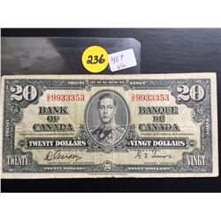 1937 Bank of Canada $20 bill Gordon/Towers