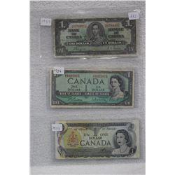 Cdn. Dollar Bills (3)