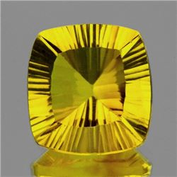 Natural ConCave Cut AAA Canary Yellow Fluorite - FL