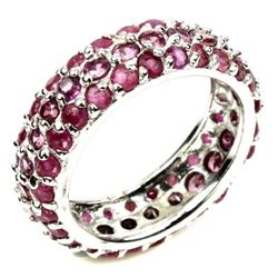 Natural  Top Rich Red Pink Ruby Ring
