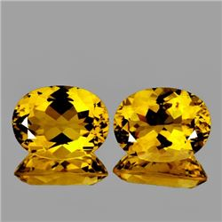 Natural AAA Golden Yellow Citrine Pair - FLawless