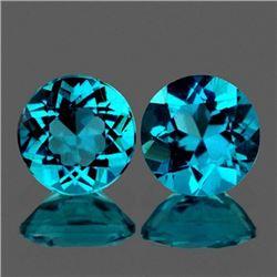 Natural Rare Brazil Blue Apatite 6.00 MM - VVS