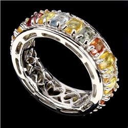 Natural Fancy/Multi Color Sapphire Ring