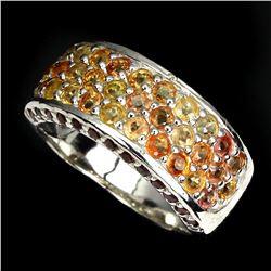 Natural Fancy Color Sapphire Rhodolite Garnet Ring