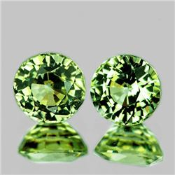 Natural Brilliant Green Sapphire Pair 5.20 MM - Flawless