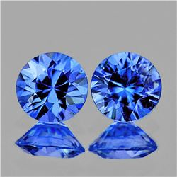 Natural Blue Sapphire Pair 3.50 MM - Flawless