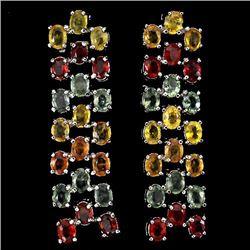 Natural Fancy Sapphires Earrings