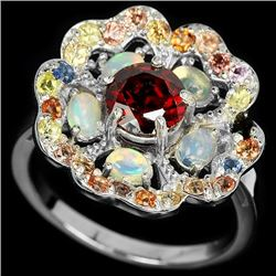 Natural Opal & Multi Gem Ring