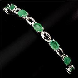 Natural Green Emerald 59.94 Ct Bracelet