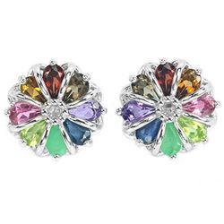Natural Emerald & Multi Gemstone Earring
