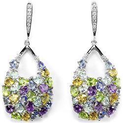 TOPAZ TANZANITE PERIDOT AMETHYST CITRINE Earrings