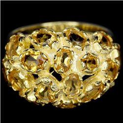 NATURAL AAA ORANGISH YELLOW CITRINE Ring