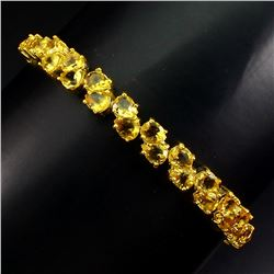 Natural Top  Rich Yellow Citrine  Bracelet
