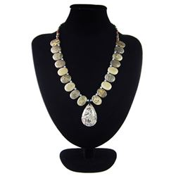 Natural Stone Hand Made Diamond Polished Necklace