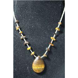 Natural Tiger Eye Gemstone Necklace