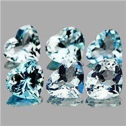 Natural Sky Blue Aquamarine Heart 3.10 cts - Flawless