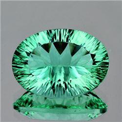 Natural Paraiba Green  Fluorite 34.18 Ct - Flawless