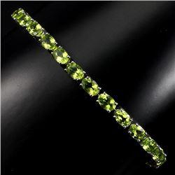 Natural Rich Green Peridot 60 Carats Bracelet